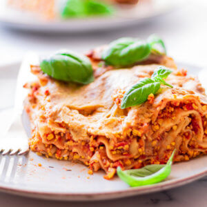 Rezeptbild vegane Lasagne mit Lupinenschrot