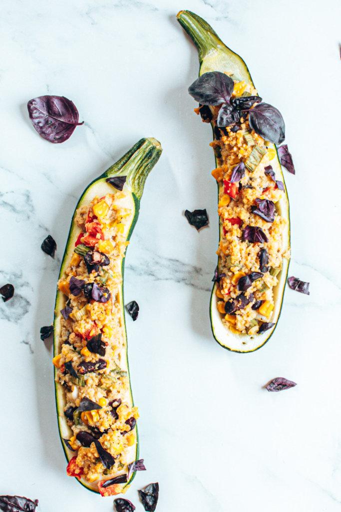 gefüllte Zucchinis mit mexikanischer Hirse Rezeptbild