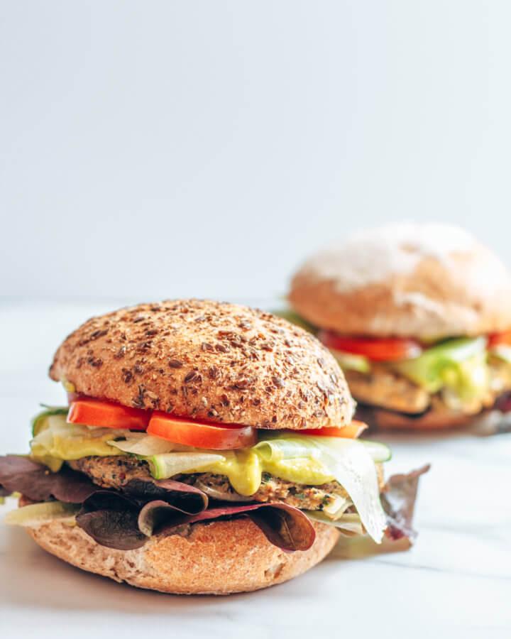 vegane Burger Rezeptbild